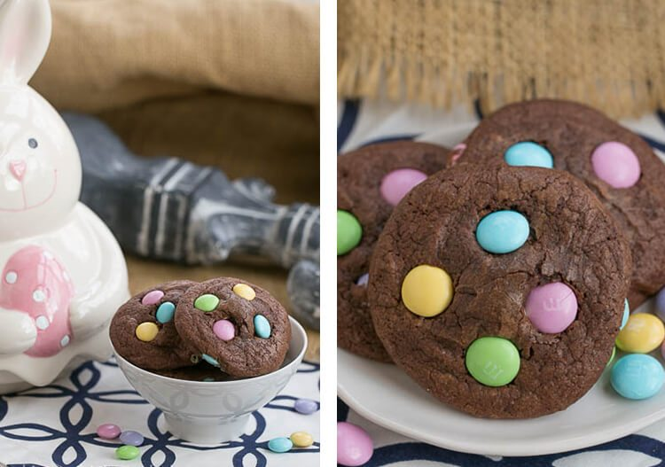 brownie cookies with Easter candy