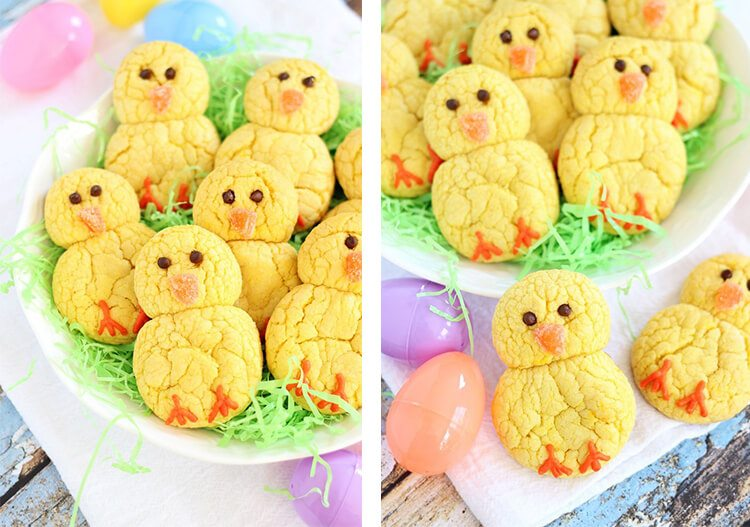 lemon cookies shaped as chicks