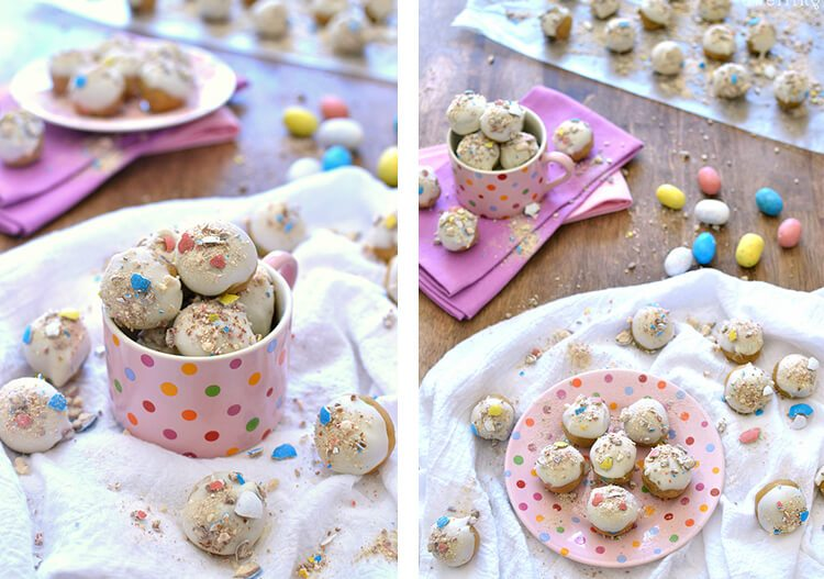 cookie dough balls with Easter candy