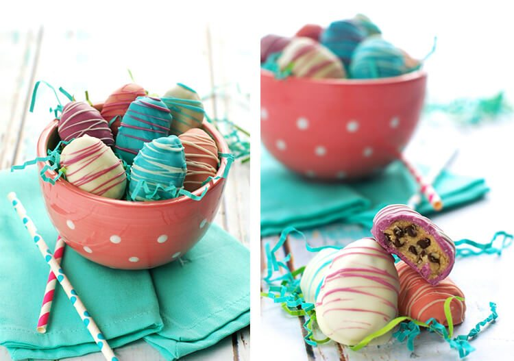 cookie dough truffles with Easter candy