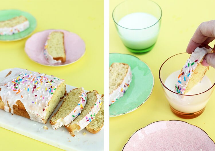 Easter cake with sprinkles