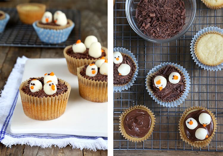 gluten-free cupcakes with white chocolate chicks