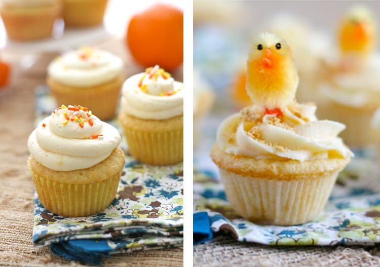 orange and almond flavored cupcakes