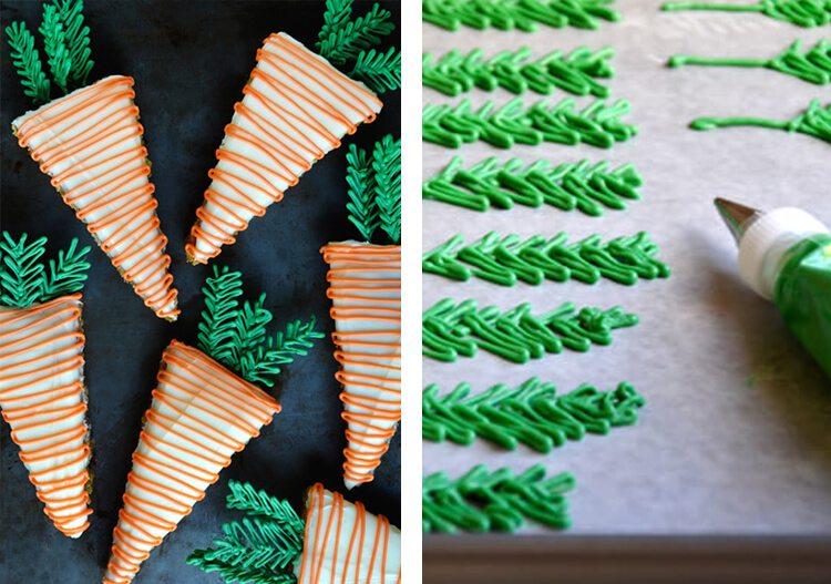 pineapple carrot cake shaped as carrots