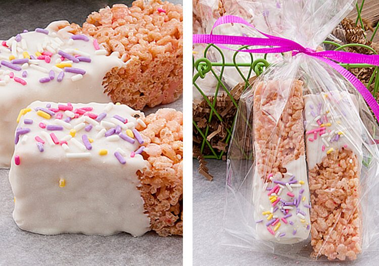 rice krispie treats with strawberry