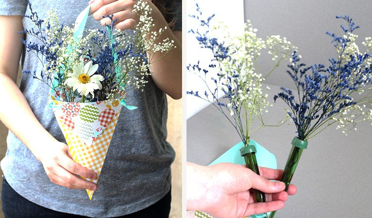 paper hanging floral arrangement
